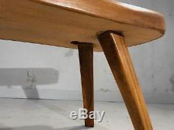 1950 TABLE BASSE GUERIDON MODERNISTE SHABBY-CHIC FORME LIBRE Nakashima Noll