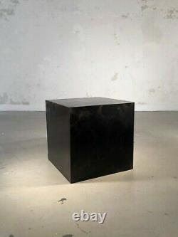 1970 CUBE TABLE BASSE POST-MODERNISTE SHABBY-CHIC Jansen Willy Rizzo Mahey