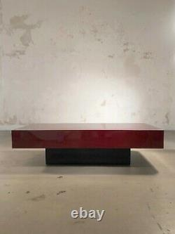 1970 JC MAHEY TABLE BASSE LAQUE POST-MODERNISTE SHABBY-CHIC Jansen Willy Rizzo