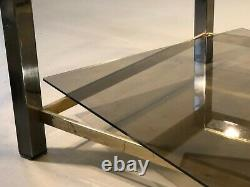 1970 WILLY RIZZO TABLE BASSE FLAMINIA POST-MODERNISTE SPACE-AGE Romeo Rega