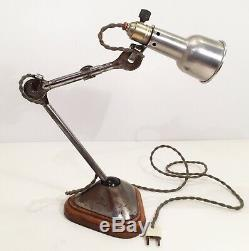 Lampe GRAS 207 oculiste Art Deco Bauhaus Industrial Factory Table Lamp 1920 30