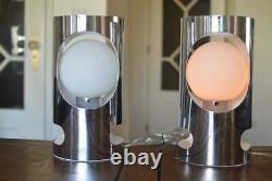 Pair of touch space age table lamp