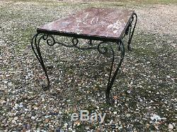 Table 1930 1950 prou art deco mid century french fer marbre