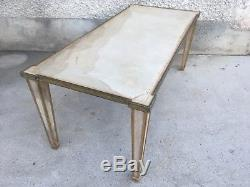 Table basse gainée de parchemin art deco coffee parchment arbus